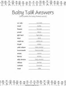 unscramble the baby related words