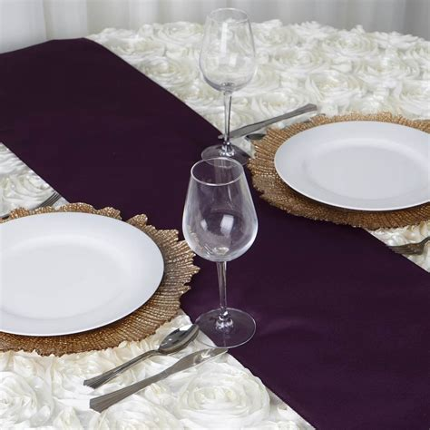 Eggplant Table Runners by Eggplant Polyester Table Runner Efavormart