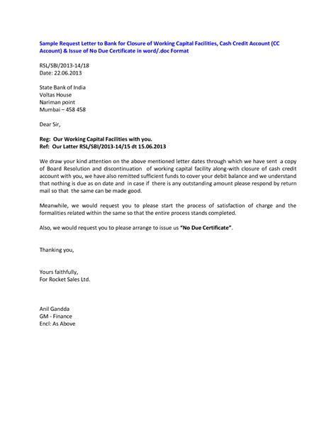 corporate bank account closing letter closing letter