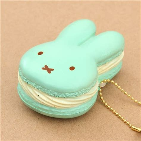 Squishy Macaron Squishy Bunny Squishy Jumbo Bunny Macaroon Diskon light green filling miffy bunny rabbit macaron