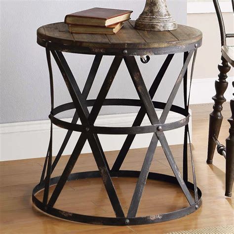 modern rustic end tables rustic modern side table