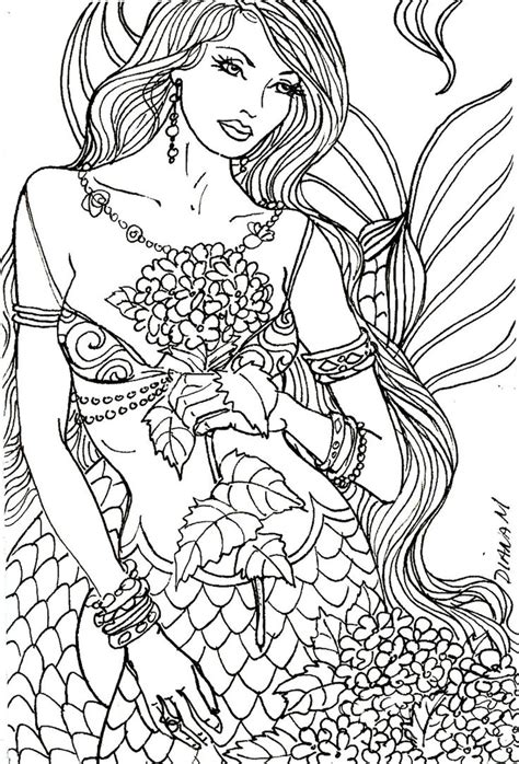 mermaids grayscale coloring book coloring books for adults books 1000 images about wendy coloring pages on