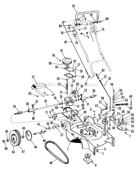 toro personal pace lawn mower parts diagram toro 23100 parts list and diagram 7000001 7999999 1967
