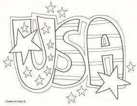 usa coloring pages independence day celebration doodles