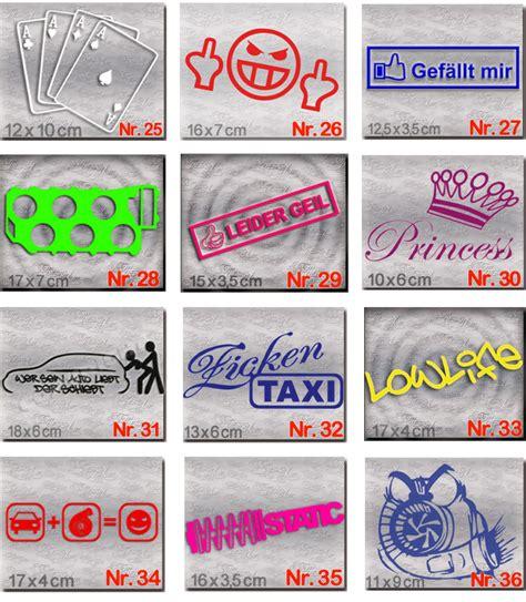 Aufkleber F R Autoscheiben by Dub Style Aufkleber Set Tuning Auto Sticker Und Dub Szene