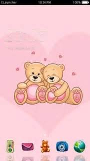 themes love android download pink teddy love android theme htc theme mobile