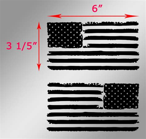 jeep flag decal 2 jeep usa flag distressed wrangler left and right decals