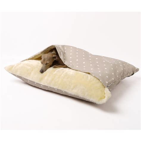 dog snuggle bed snuggle dog bed in dotty taupe design dog cat beds cuckooland