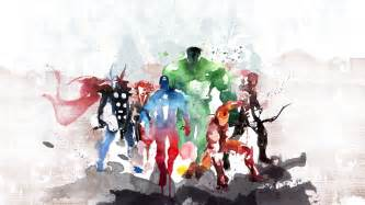 Hollywood Wall Mural the avengers watercolor painting wallpaper best hd