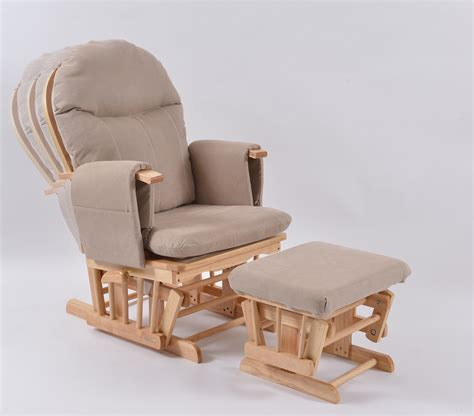 habebe recliner glider chair habebe glider chair stool beech wood beige washable