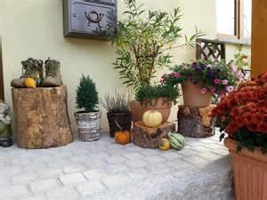 herbst dekoration herbstdeko ideen kreativ bunt den garten dekorieren
