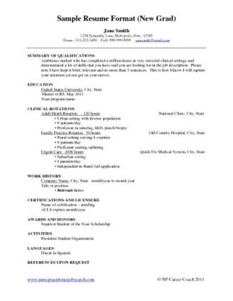 Nursing Resume Template New Grad Stuff On Resume Nursing Resume And Cover Letters