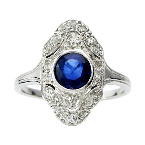deco vintage ring deco sapphire ring vintage rings 2449176