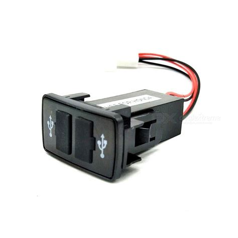 12v 24v to 5v 2 1a 2 port usb 2 0 diy vehicle car power