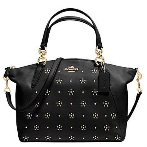 Promo Tas Branded Coach Small Kelsey Gold Tas Coach Original Nwt Ns new coach gold studded all leather xbody more new coach guaranteed authentic black all leather