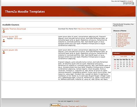 moodle theme red free templates blog 187 moodle 187 silky red a students