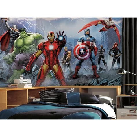 comic wall mural assemble mural