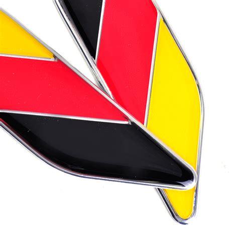 audi germany flag 2pcs aluminum germany flag emblem badge bumper sticker