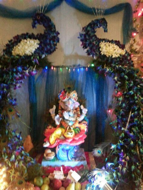Ganpati puja   Like:)   Ganapati decoration, Decoration