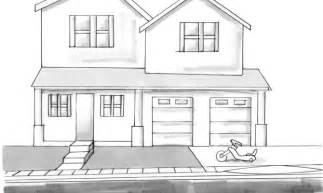 Drawing Of A House With Garage by Simple House Drawing Ukrobstep Com
