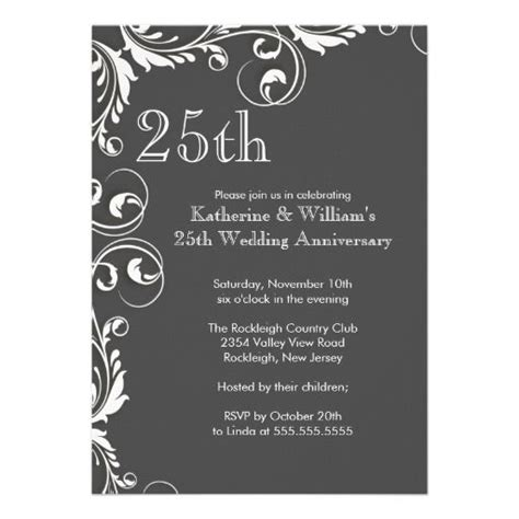 25th wedding anniversary invitation card ideas 152 best 25th wedding anniversary silver images on