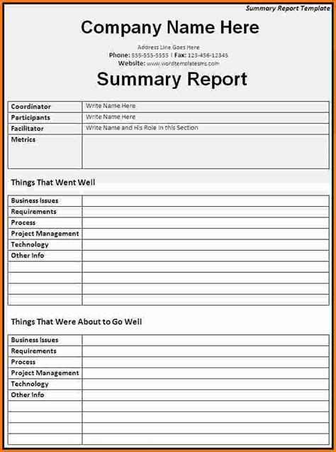 6 microsoft word report templates expense report