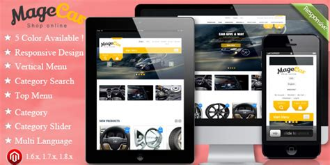 magento responsive templates magecar magento responsive theme magento car garage