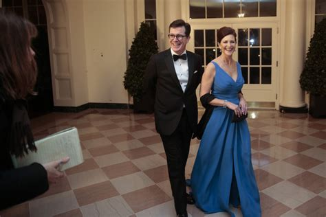 stephen colbert photos photos guests arrive for white