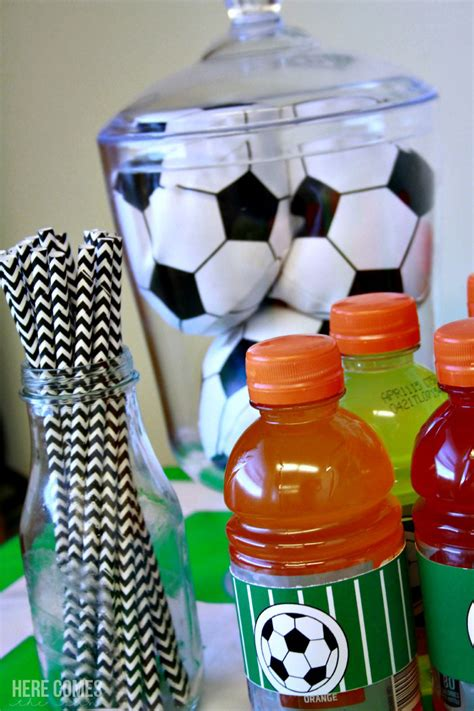 soccer theme decorations soccer birthday ideas here comes the sun
