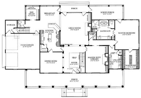 Colonial Country Farmhouse Plantation House Plan 86143 Plantation Style House Floor Plan