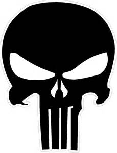 Signs Of Vanity Punisher Skull Decal Decalmonster Com