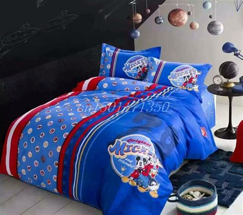 mickey mouse bed set full size good quailty 100 cotton satin drill mickey mouse queen