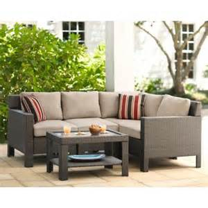 small patio sectional hton bay beverly 5 patio sectional seating set