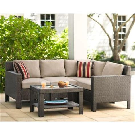 small patio sectional hton bay beverly 5 piece patio sectional seating set