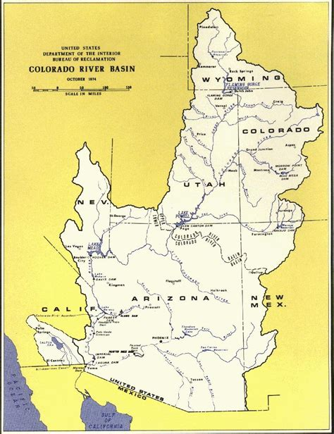 us map showing colorado river the missing colorado river delta rivers borders and