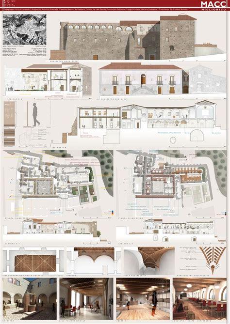 tavole restauro progetto di riqualificazione convento dei francescani