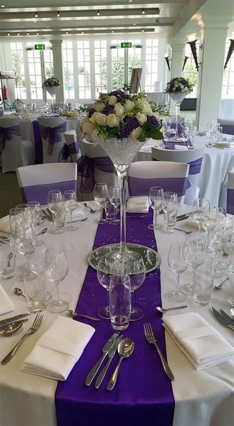 Wedding martini glass vase center piece hire london kent