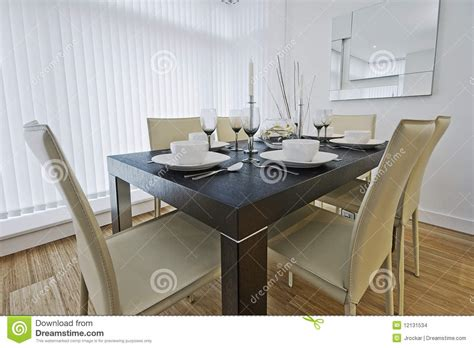dining table set up luxury dining table setup stock images image 12131534