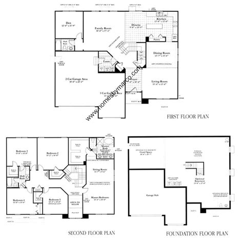 homes by marco floor plans lincoln model in the prairie walk subdivision in round