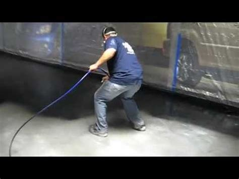 Acid Stain Flooring Black Stain Commercial   YouTube