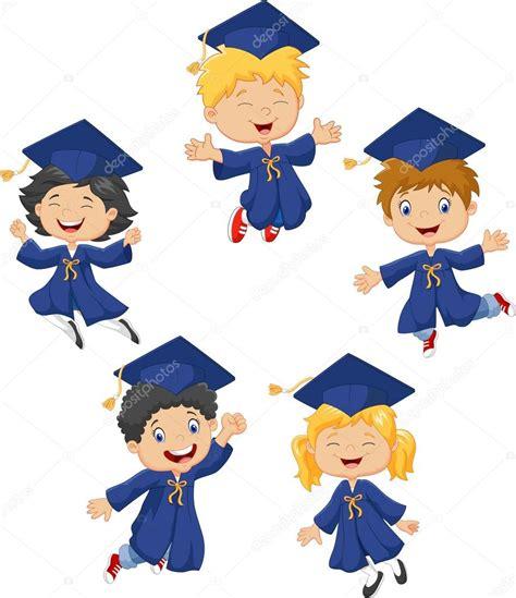 fondo de graduacion im genes de archivo vectores fondo poco de dibujos animados los ni 241 os celebran su graduaci 243 n