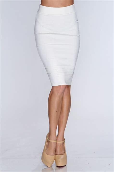white high waist pencil skirt clubwear