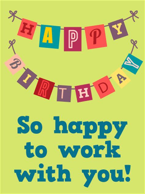 Happy Birthday Wishes For Work Colleague Cheers Happy Birthday Card For Co Workers Birthday