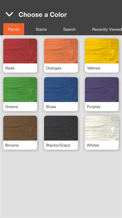 the home depot new technology shows you the paint color before it s on your walls