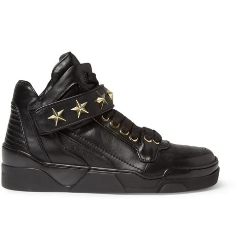 givenchy men s metal trimmed leather high top