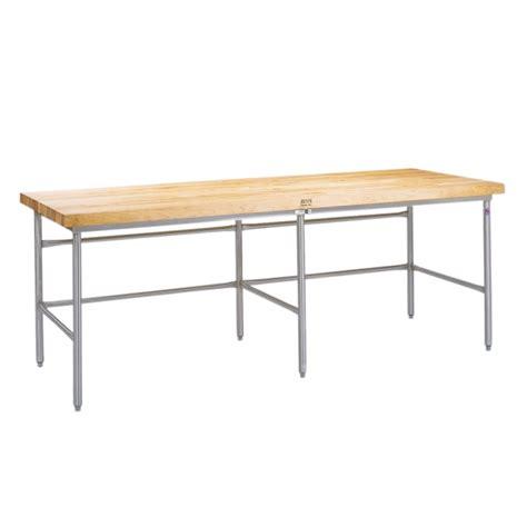Frame G04 Is boos galvanized steel bakers table frames w bin stops