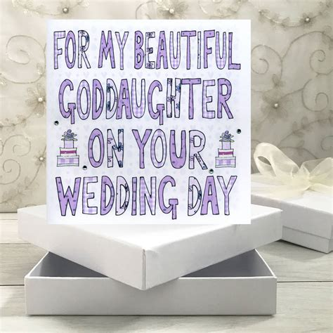 Wedding Wishes Goddaughter by Personalised Goddaughter Godson Wedding Book Card By