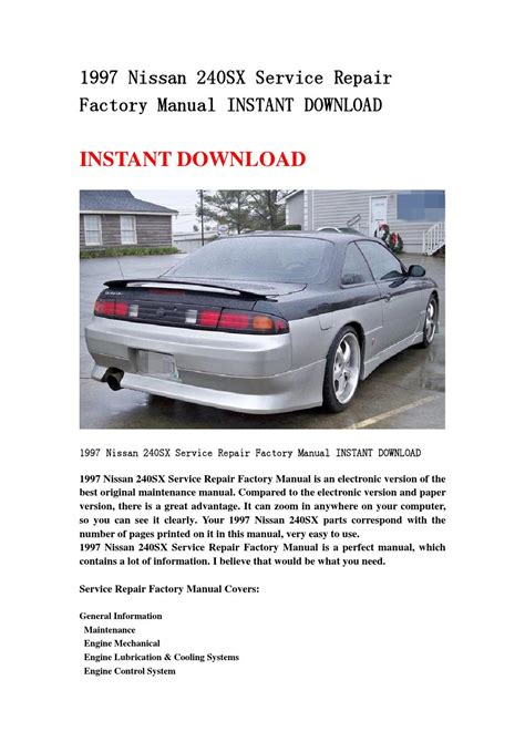 service repair manual free download 1997 nissan 240sx electronic throttle control 1997 nissan 240sx service repair factory manual instant download by jshenfn issuu