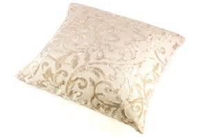 Home Design Vendita Online cuscino arredo damascato colore bianco avorio biancheria