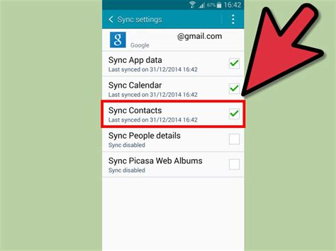 sync contacts with android how to sync android contacts with gmail 5 steps with pictures
